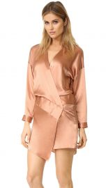 Oversized Wrap Mini Dress by Michelle Mason at Shopbop