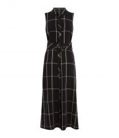 Oversized Check Maxi Dress at Karen Millen
