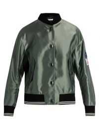 Oversized Patches Bomber Jacket at Browns