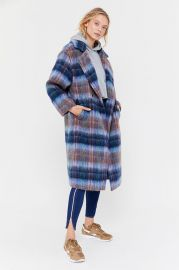 Oversized Plaid Wool Overcoat by Urban Outfitters at Urban Outfitters