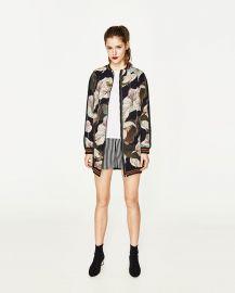 Oversized Printed Bomber Jacket  at Zara
