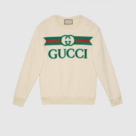 Oversized Sweatshirt with Gucci Logo at Gucci