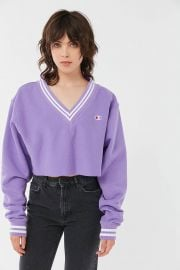 Oversized V-Neck Cropped by Champion at Urban Outfitters