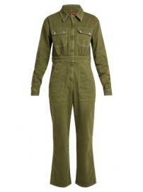 Oversized straight-leg cotton-blend jumpsuit at Matches