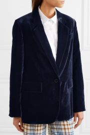 Oversized velvet blazer at Net A Porter
