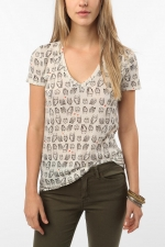 Owl print shirt at Urban Outfitters at Urban Outfitters