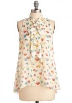 Owl printed blouse like Lemons at Modcloth