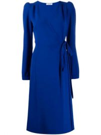 P A R O S H  Fitted Wrap Dress - Farfetch at Farfetch