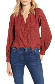 PAIGE Peteluma Tie Neck Blouse   Nordstrom at Nordstrom