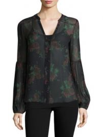 PAIGE - Emilia Floral-Print Silk Blouse at Saks Fifth Avenue
