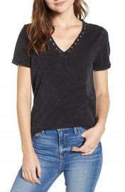 PAIGE Arielle Grommet Detail Stretch Cotton Tee  Nordstrom Exclusive    Nordstrom at Nordstrom