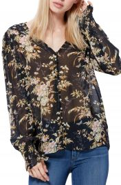 PAIGE Calliope Silk Georgette Blouse   Nordstrom at Nordstrom
