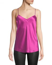PAIGE Cicely V-Neck Silk Camisole Top at Neiman Marcus