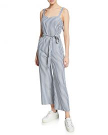 PAIGE Emma Striped Sleeveless Jumpsuit at Neiman Marcus