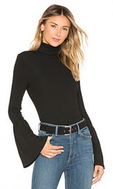PAIGE Kenzie Turtleneck Top in Black from Revolve com at Revolve