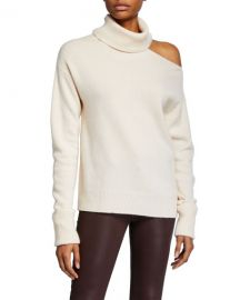 PAIGE Raundi Cold-Shoulder Wool Sweater at Neiman Marcus