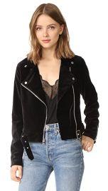 PAIGE Shanna Velvet Moto Jacket at Shopbop