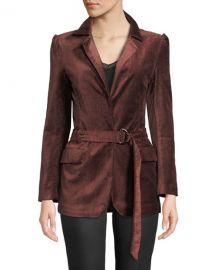 PAIGE Sorrenti Belted Velvet Blazer at Neiman Marcus