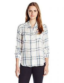 PAIGE Women s Mya Plaid Shirt at Amazon