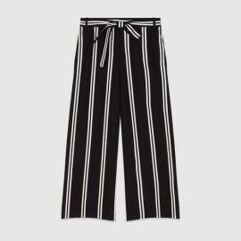 PAKILA Wide 7 8 striped pants at Maje