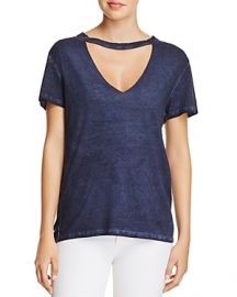 PAM  &  GELA Cutout Choker Tee at Bloomingdales