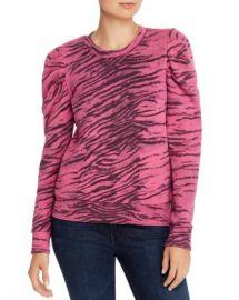 PAM  amp  GELA  Puff-Sleeve Tiger Print Sweatshirt  Women - Bloomingdale s at Bloomingdales