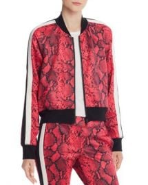 PAM  amp  GELA Baby Boa Cropped Track Jacket Women - Bloomingdale s at Bloomingdales