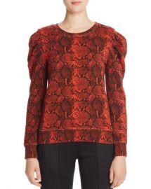 PAM  amp  GELA Puff-Shoulder Snake Print Sweatshirt - 100  Exclusive  Women - Bloomingdale s at Bloomingdales