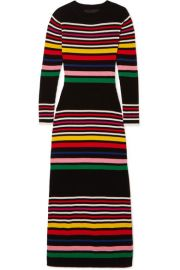 PAPER London - Striped ribbed wool midi dress at Net A Porter