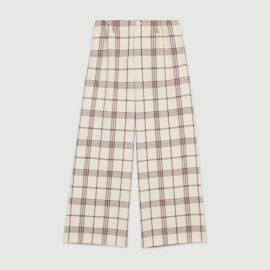 PERSIO Wide leg plaid pants nbsp at Maje