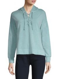 PESERICO - LACE-UP HOODIE at Saks Off 5th