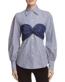PETERSYN Mia Bralette Stripe Shirt at Bloomingdales