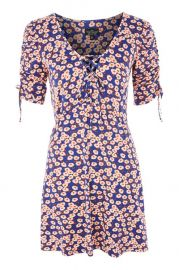 PETITE Frill Tea Dress at Topshop