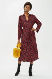 PETITE Print Horn Button Midi Shirt Dress at Topshop
