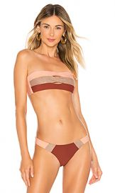 PILYQ Color Block Bandeau Top in Papaya from Revolve com at Revolve