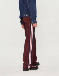 PINKO Telefono striped wide-leg wool-twill trousers at Selfridges
