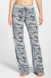 PJ Salvage Camo Pajama Pants in Heather Grey at Nordstrom