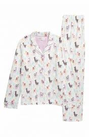 PJ Salvage Fa La La Lounge Two-Piece Pajamas at Nordstrom
