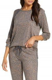 PJ Salvage Leo Sport Long Sleeve Pajama Top   Nordstrom at Nordstrom