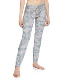 PJ Salvage Weekend Love Camo Jogger Pants at Neiman Marcus