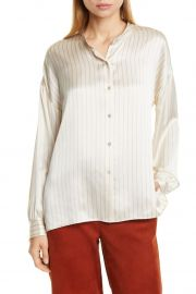 PJ Stripe Silk Blouse at Nordstrom Rack