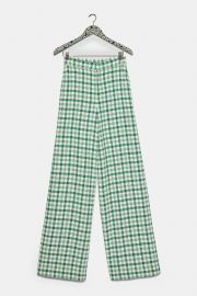 PLAID TWEED PANTS at Zara