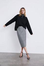 PLAID PENCIL SKIRT at Zara