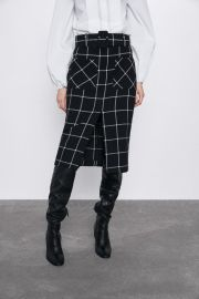 PLAID PENCIL SKIRT at Zara