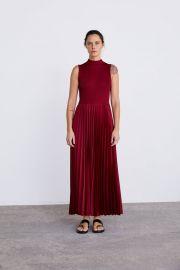 PLEATED DRESS at Zara