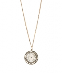 PLL Aria Clock Necklace at Aeropostale