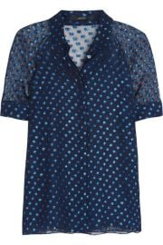 POLKA-DOT SILK-BLEND CHIFFON BLOUSE at Net A Porter