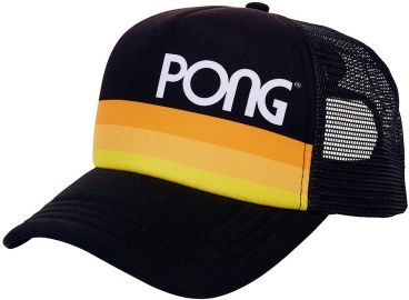 PONG Atari Men s Vintage Style Retro Snapback Hat  Black  One Size Fits Most  Adjustable at Amazon