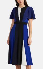 PRABAL GURUNG COLORBLOCKED SILK DRESS at Barneys