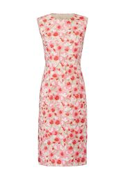 PRABAL GURUNG PINK FLORAL SHEATH at Rent The Runway